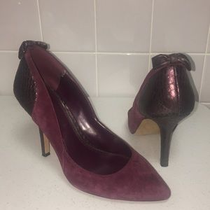 Jessica Simpson Faux Suede and Snake pumps